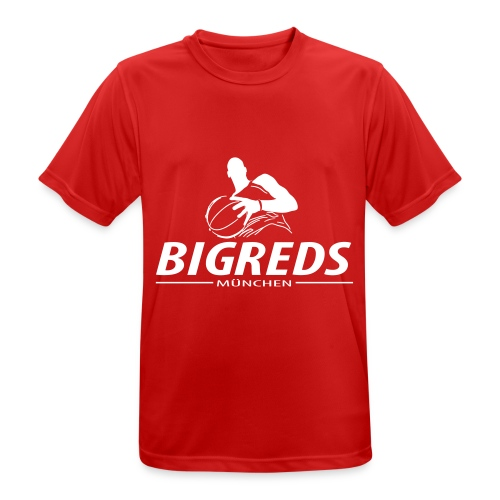 Bigreds Schrift mit Spie - Männer T-Shirt atmungsaktiv
