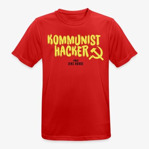 Kommunist Hacker ifølge Jens - Herre T-shirt svedtransporterende