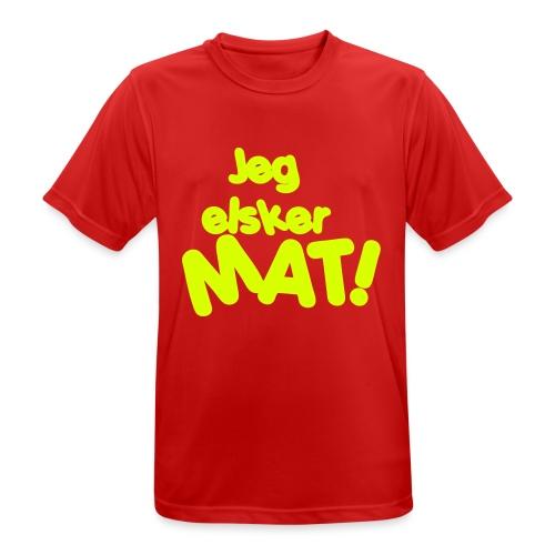 Jeg elsker mat - Pustende T-skjorte for menn