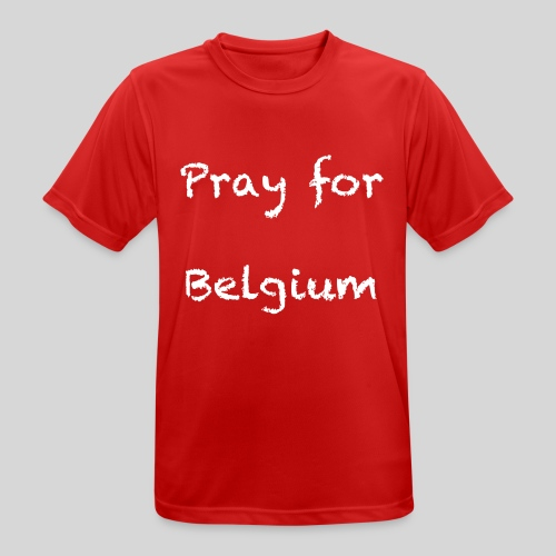 Pray for Belgium - T-shirt respirant Homme
