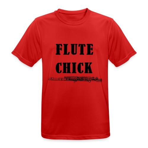 Flute Chick - Pustende T-skjorte for menn