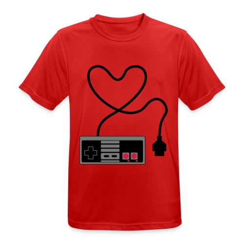 NES Controller Heart - Men's Breathable T-Shirt