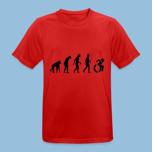 EvolutionWheelchair2 - Mannen T-shirt ademend