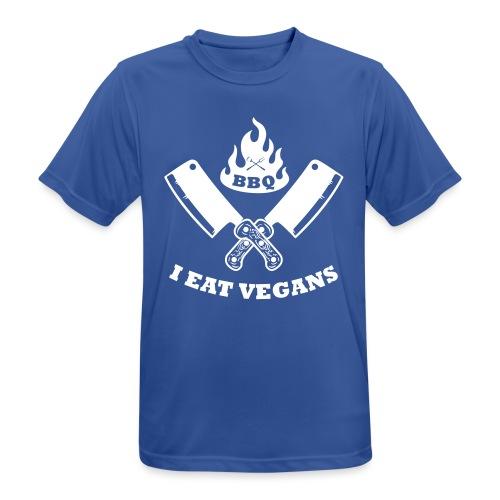 BBQ je mange végétaliens - T-shirt respirant Homme