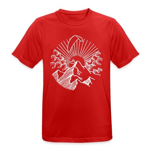 Paraglider Mountain Sunrise - Männer T-Shirt atmungsaktiv