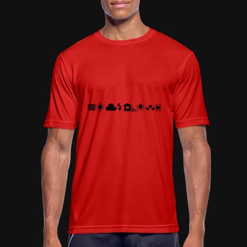 Weissabgleich Symbole Horizontal - Männer T-Shirt atmungsaktiv