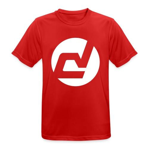 logo blanc - T-shirt respirant Homme