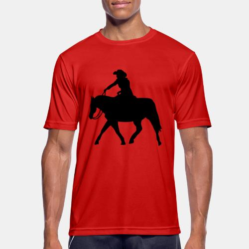 Ranch Riding extendet Trot - Männer T-Shirt atmungsaktiv
