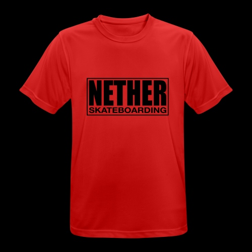 Nether Skateboarding T-shirt White - Maglietta da uomo traspirante