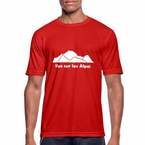 Vue sur les Alpes - T-shirt respirant Homme