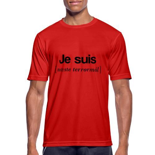Je suis (sort skrift) - Herre T-shirt svedtransporterende