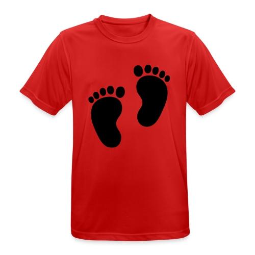 Baby voetjes - Mannen T-shirt ademend