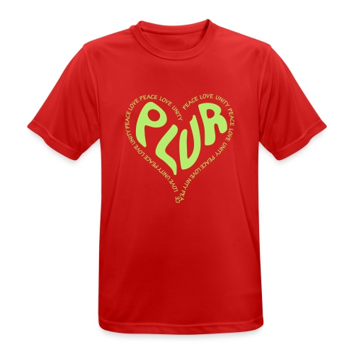 PLUR Peace Love Unity & Respect ravers mantra in a - Men's Breathable T-Shirt