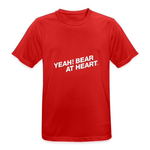 Yeah Bear at Heart #2 - Männer T-Shirt atmungsaktiv