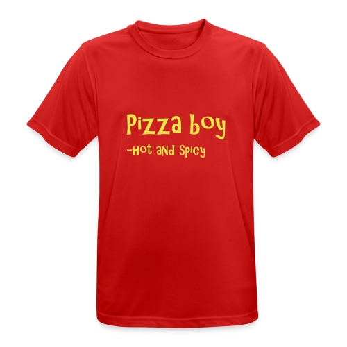 Pizza boy - Pustende T-skjorte for menn