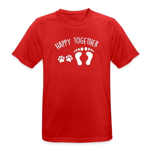 Vorschau: happy together dog - Männer T-Shirt atmungsaktiv