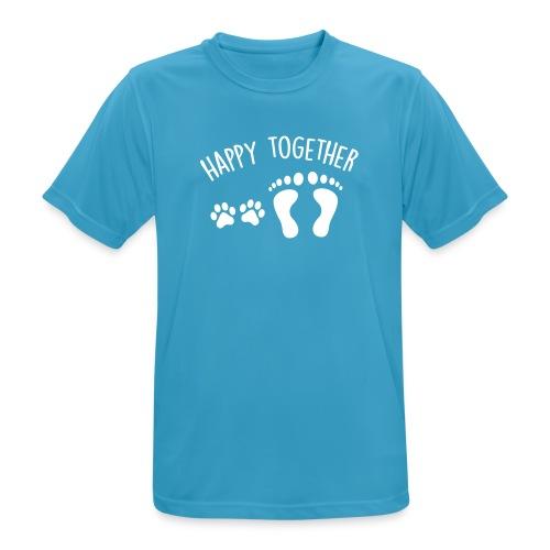 Vorschau: happy together dog - Männer T-Shirt atmungsaktiv