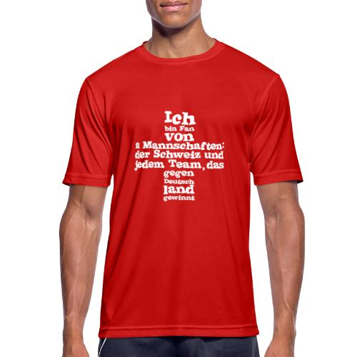 Fan von zwei Mannschaften - Männer T-Shirt atmungsaktiv