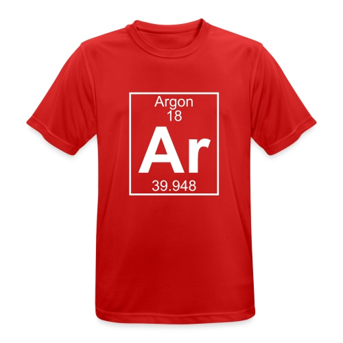 Argon (Ar) (element 18) - Men's Breathable T-Shirt