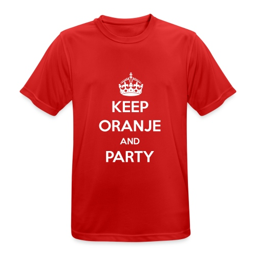 KEEP ORANJE AND PARTY - Mannen T-shirt ademend