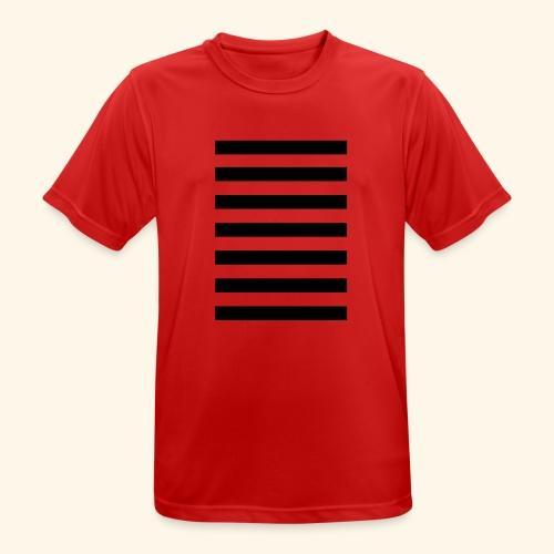 White Lands Streifen Muster - Männer T-Shirt atmungsaktiv