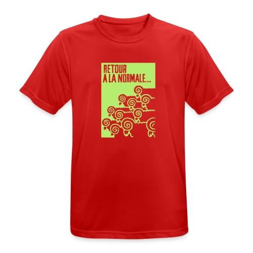 retour_à_la_normale_retu - Andningsaktiv T-shirt herr