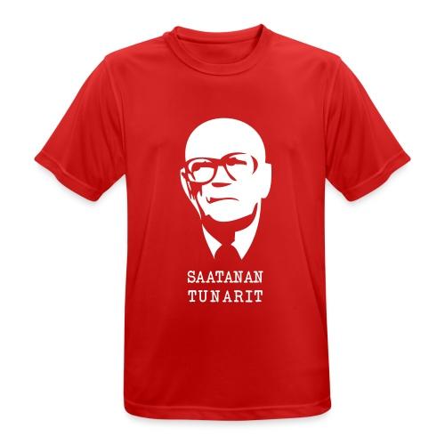 Kekkonen saatanan tunarit - miesten tekninen t-paita
