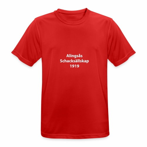 Alingsås Schacksällskap, text - Andningsaktiv T-shirt herr