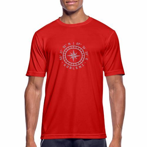 Koblenz – Kompass - Männer T-Shirt atmungsaktiv