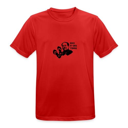 MAO et ses tongs - T-shirt respirant Homme