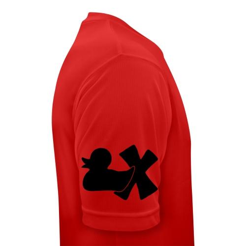 Ente mit X v3 3 klein - Männer T-Shirt atmungsaktiv