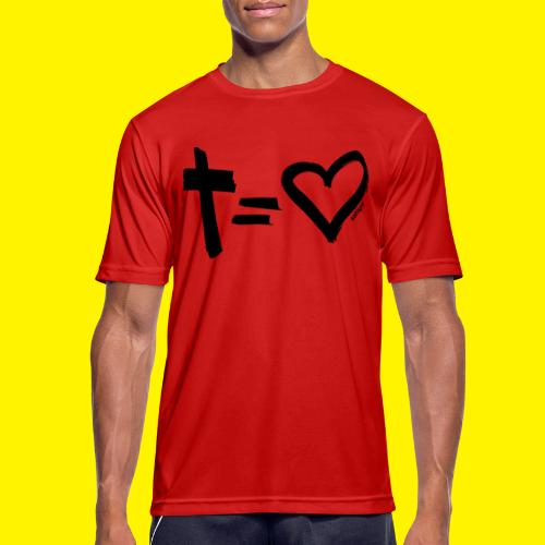 Cross = Heart BLACK - Men's Breathable T-Shirt
