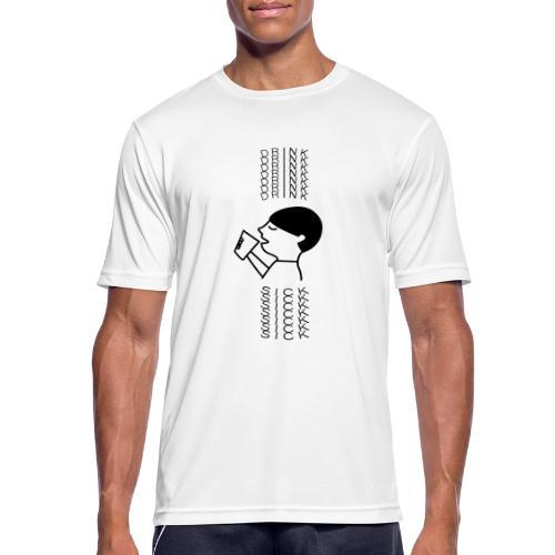 SICK DRINK - Mannen T-shirt ademend actief