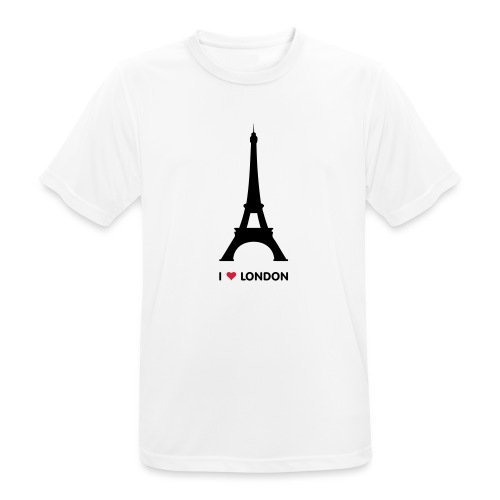 I love London - Mannen T-shirt ademend actief