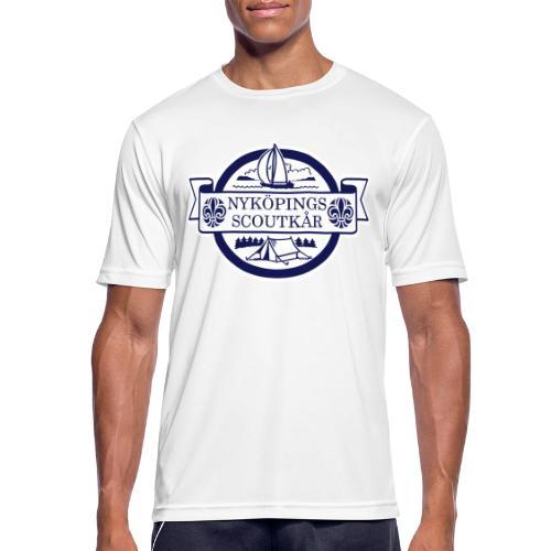 Kårlogotyp med bakgrund (blå) - Andningsaktiv T-shirt herr