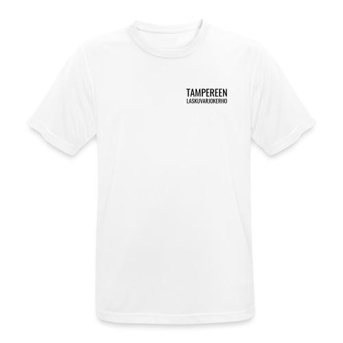 Teksti TAMLK logo CMYK - miesten tekninen t-paita
