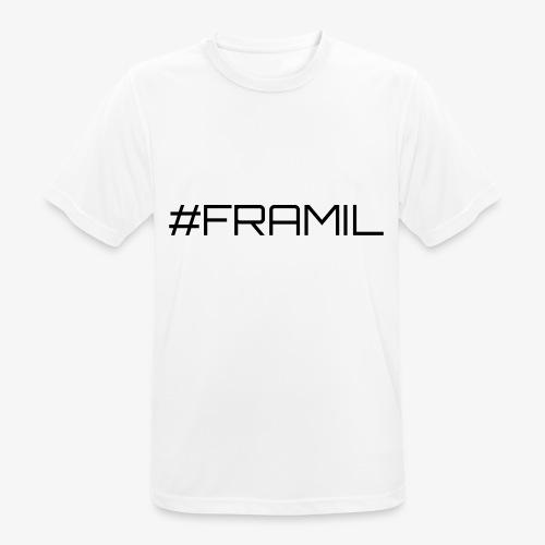 Musta framil - miesten tekninen t-paita