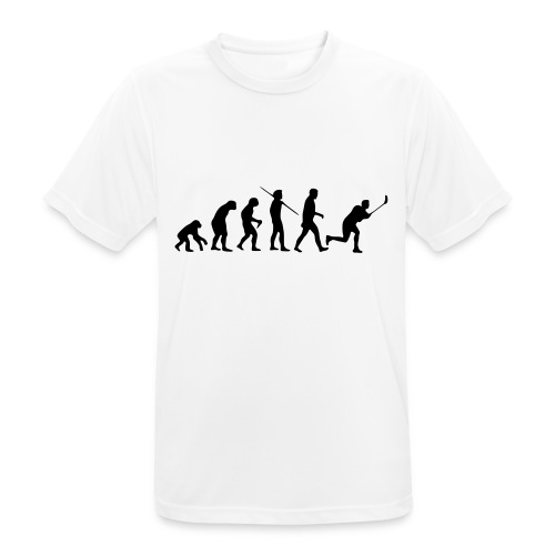 Floorball Evolution Black - Männer T-Shirt atmungsaktiv