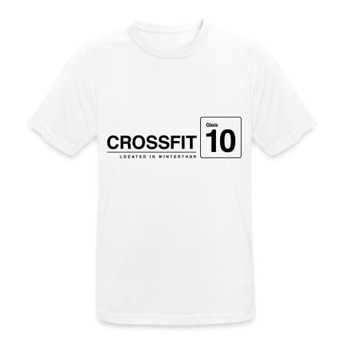 CrossFit_Gleis_10_Logo_1_Black - Männer T-Shirt atmungsaktiv