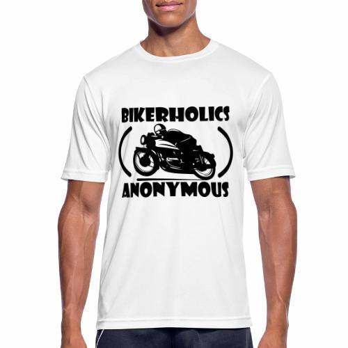 Bikerholics Anonymous - Men's Breathable T-Shirt
