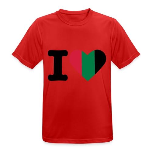 hartjeroodzwartgroen - Mannen T-shirt ademend actief