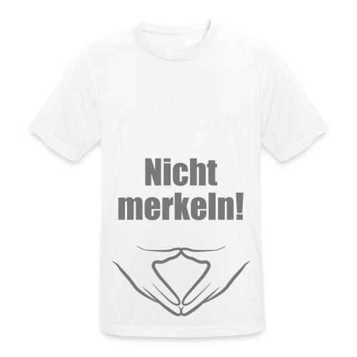 Nicht merkeln! - Männer T-Shirt atmungsaktiv