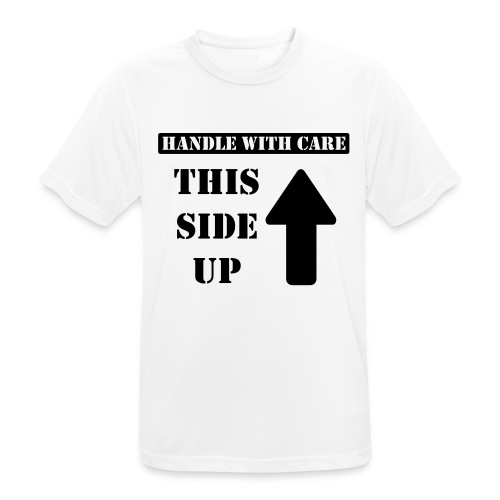 Handle with care / This side up - PrintShirt.at - Männer T-Shirt atmungsaktiv