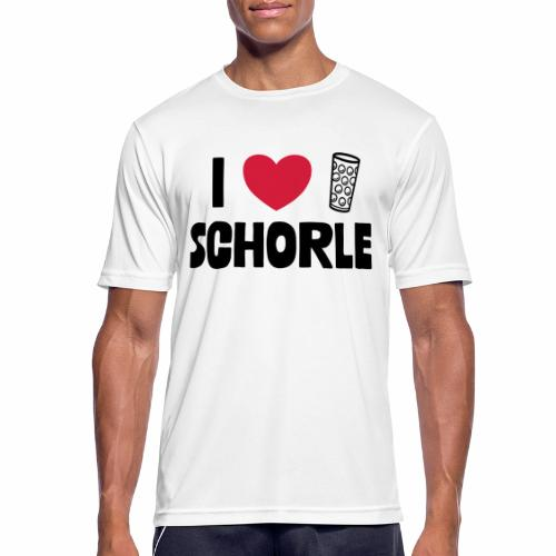 I love Schorle & Dubbeglas - Männer T-Shirt atmungsaktiv