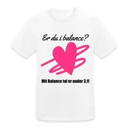 I Balance Design - Herre T-shirt svedtransporterende