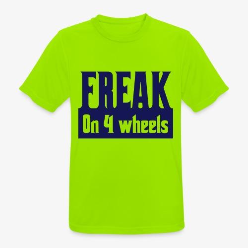 Gek op vier rolstoel wielen - Mannen T-shirt ademend actief