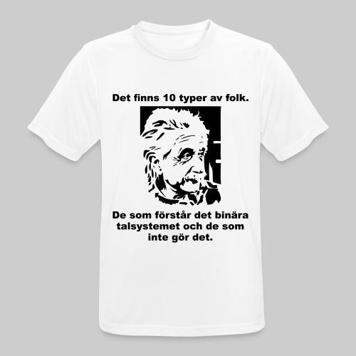 Det finns 10 Typer - Andningsaktiv T-shirt herr