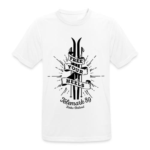 FreeYourHeels_merge - miesten tekninen t-paita