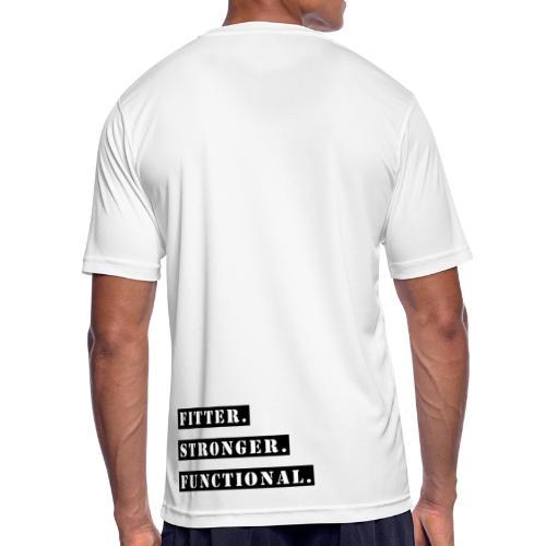 Fitter . Stronger . Functional - White - Männer T-Shirt atmungsaktiv