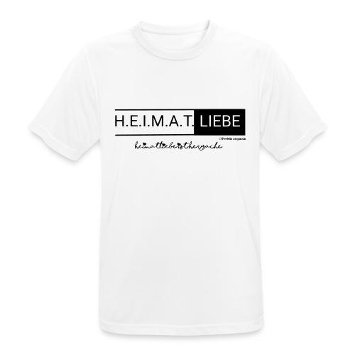 Heimatliebe Herzsache - Männer T-Shirt atmungsaktiv